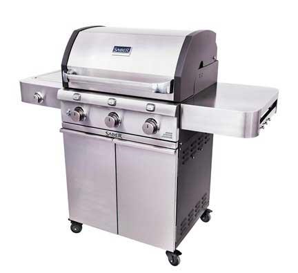 barbecue Saber en acier inoxydable moulé à 3 brûleurs